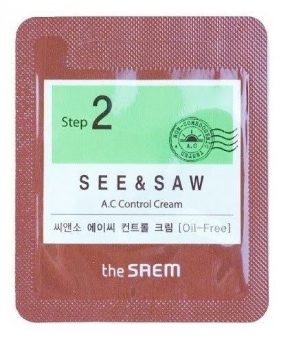SEE & SAW AC Control Cream - Sample (Pouch)
